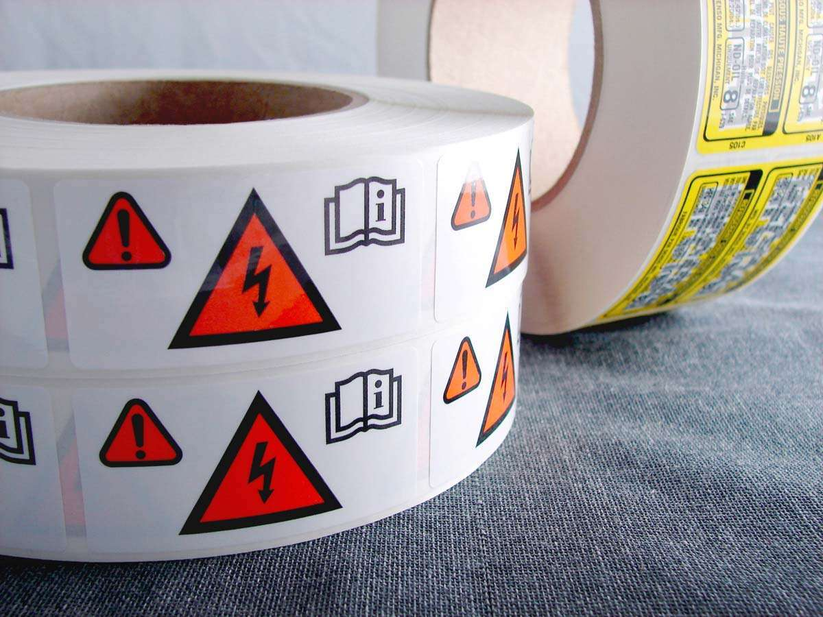 argent tape and label examples
